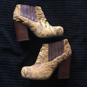 Jeffrey Campbell velvet booties